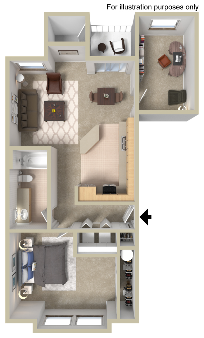 The Cambridge Is A One Bedroom Plus Den Apartment Home Offering 889 Square  Feet Of Open, Spacious Living. Enjoy The Patio/deck Off The Dining Room On  A Warm ...