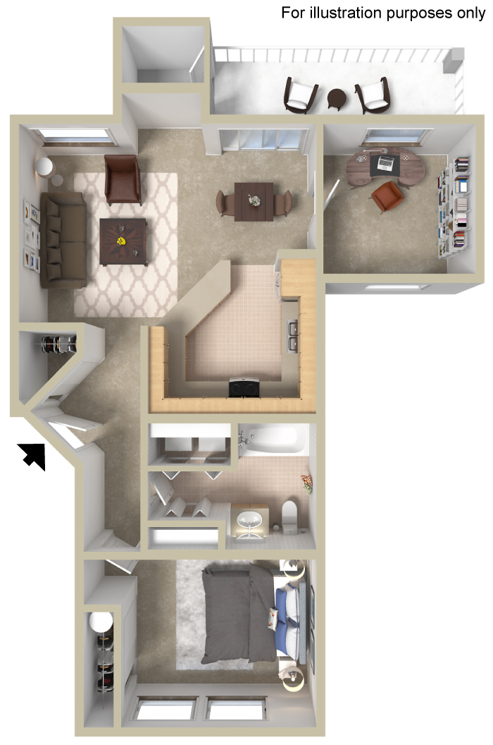 The Oxford Is A One Bedroom Plus Den Apartment Home Offering 836 Square  Feet Of Open, Spacious Living. Enjoy The Patio/deck Off The Dining Room On  A Warm ...