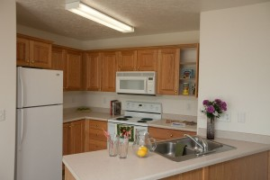 Rexburg ID Apartments with Wood cabinets