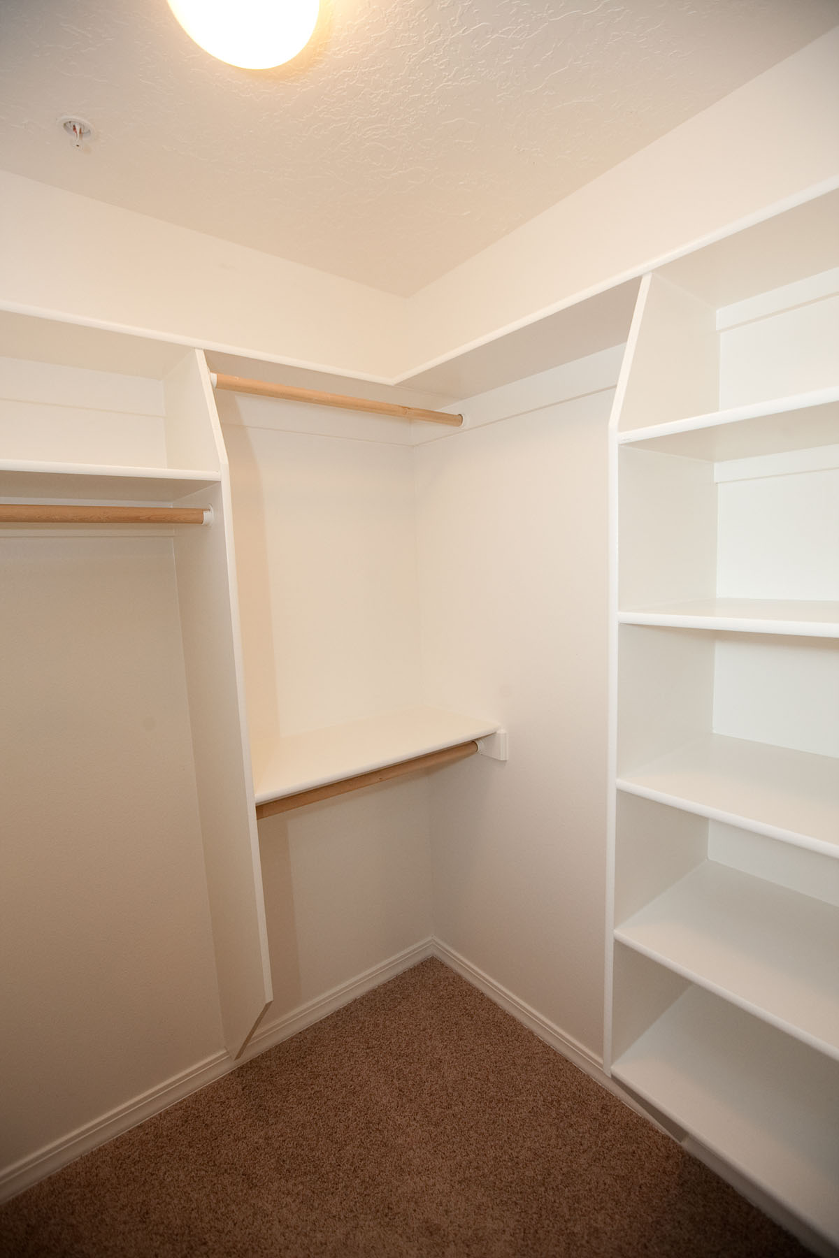 built in closet shelving the village apartments. Black Bedroom Furniture Sets. Home Design Ideas