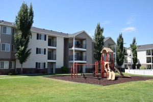 Apartment building in The Village Apartments in Rexburg