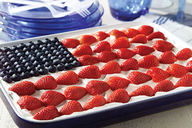 Jello Flag Cake Cream Cheese