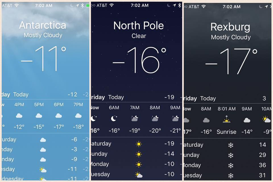 5 Ways To Survive The 0 Degree Weather In Rexburg